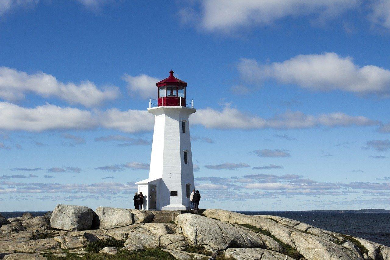 lighthouse, coast, sea
